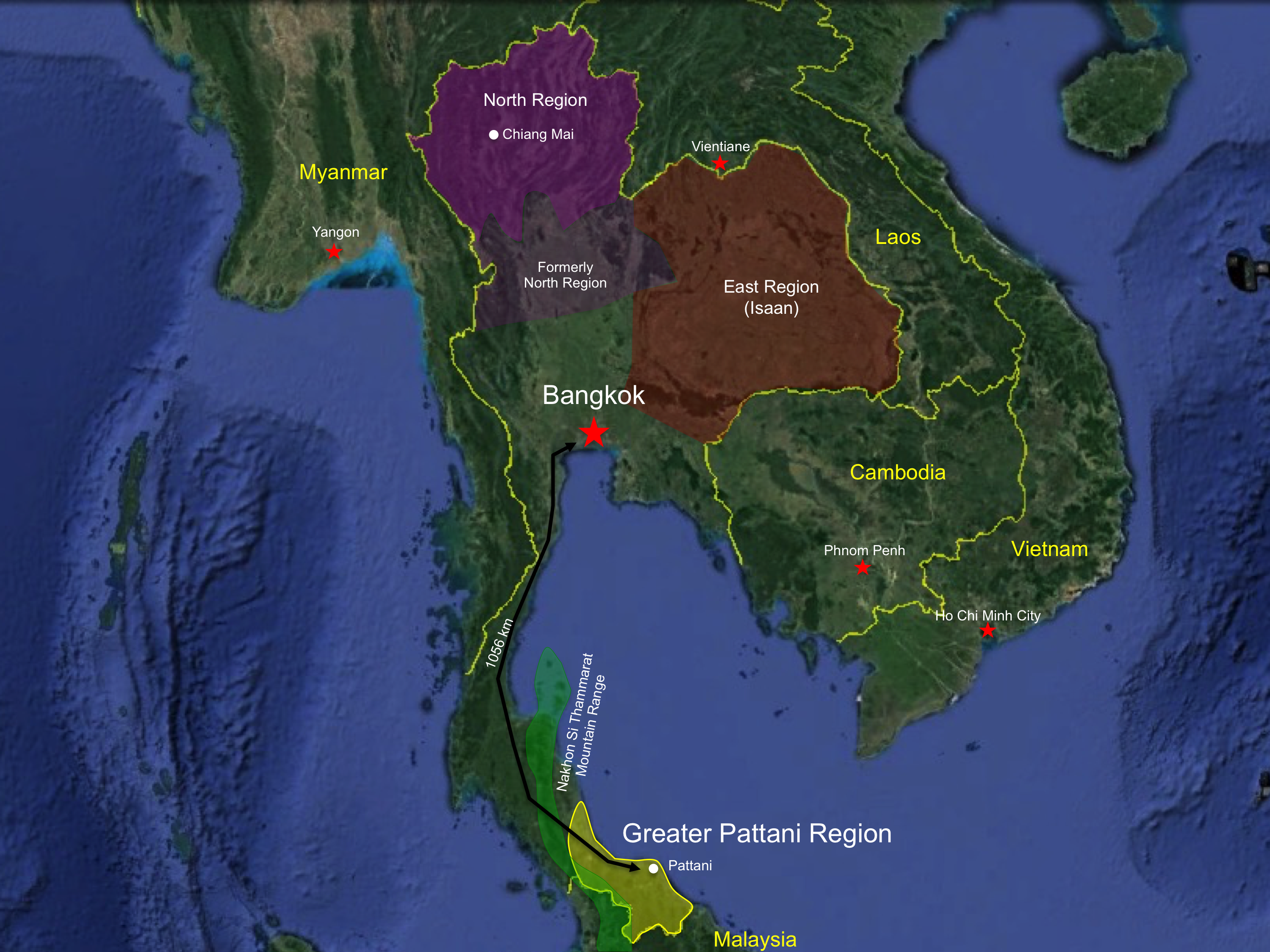Thailand archives the affiliate network thailand map 5 gumiabroncs Images